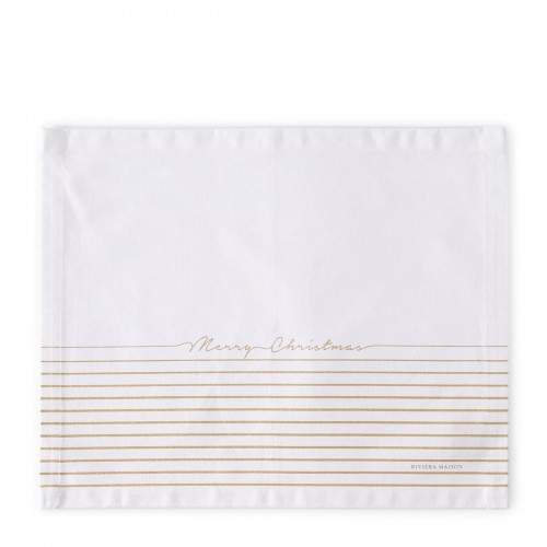 Merry Christamas Gold Stripe placemat .jpg